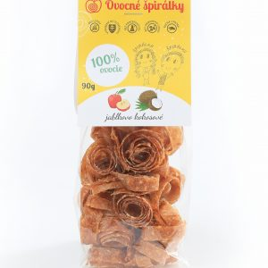 Ovocné špirálky - ovocné kože - zdravá sladkosť - zdravé sladkosti - zdravá pochúťka